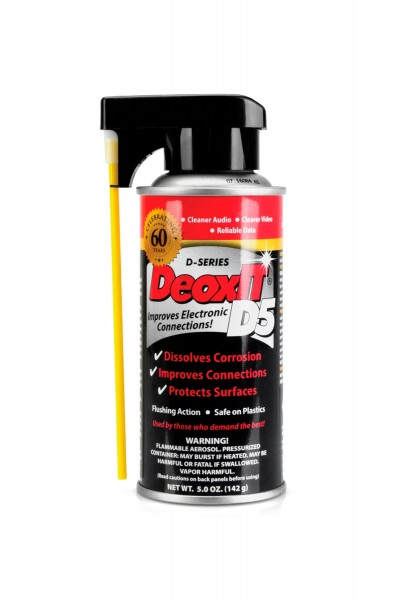 Hosa D5S-6, CAIG DeoxIT Contact Cleaner, 5% Spray, 5 oz